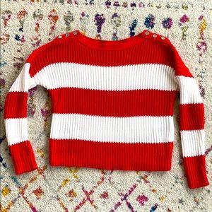 NWOT Armani Exchange crop chunky sweater